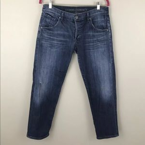 Citizens Of Humanity Womens Size 28 Skylar Crop Bf